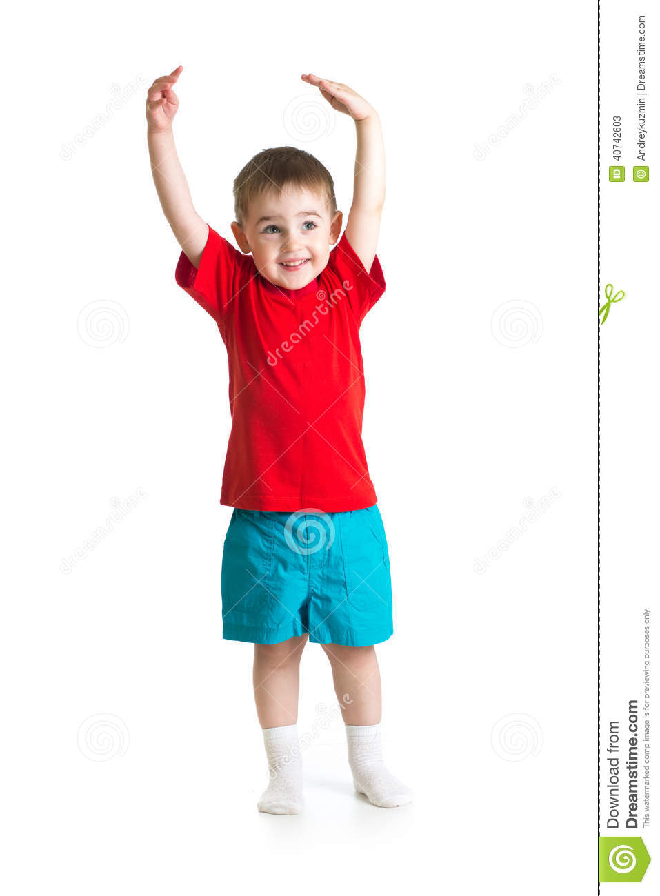 Little Kid Or Child Growing Isolated Stock Photo Image