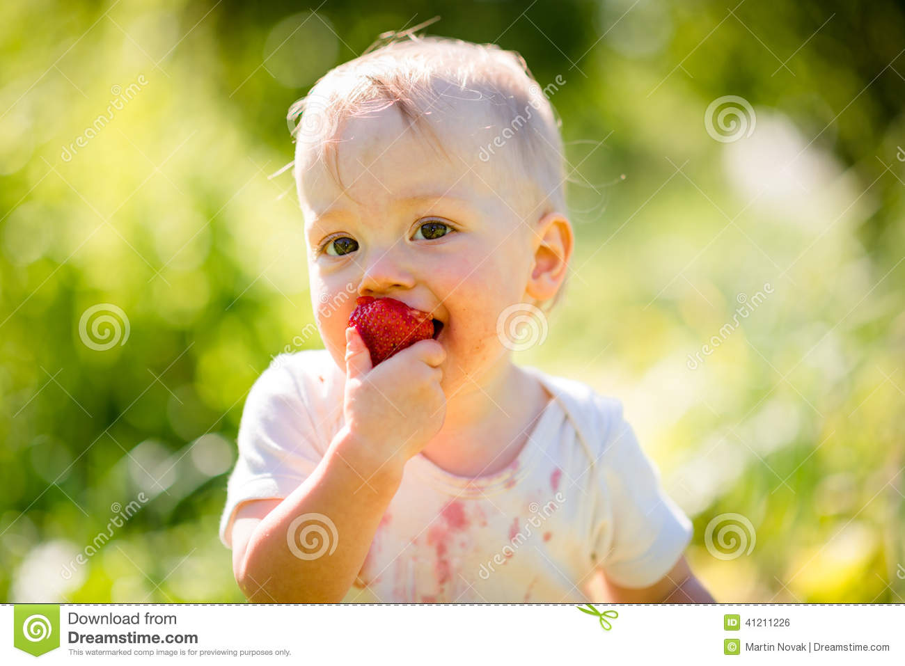 Kid Eating Food Smiling
