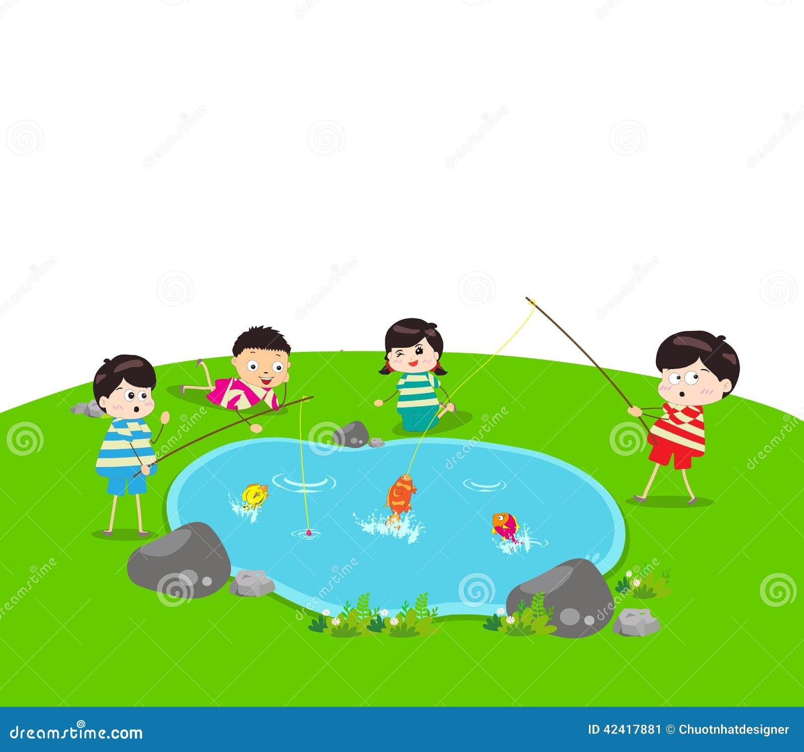 Fish Pond Clip Art - Royalty Free - GoGraph