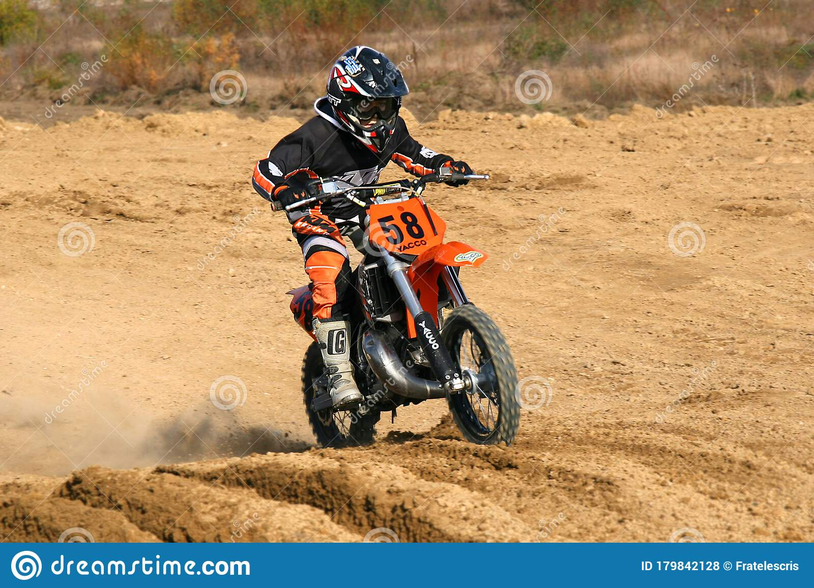 Little Kid Racing On His Off Road Dirt Bike Motocross Competition Editorial Stock Photo Image Of Challenge Sound 179842128