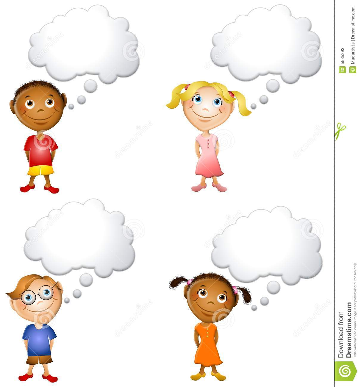 Kids Thinking Clipart Little kids thinking about stock photos - image ...