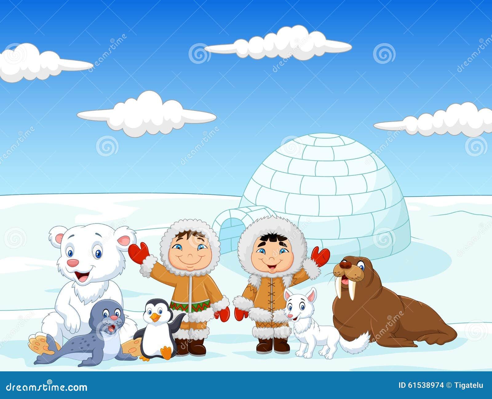 Arctic eskimo royalty free stock photo cartoondealer for Arctic house design