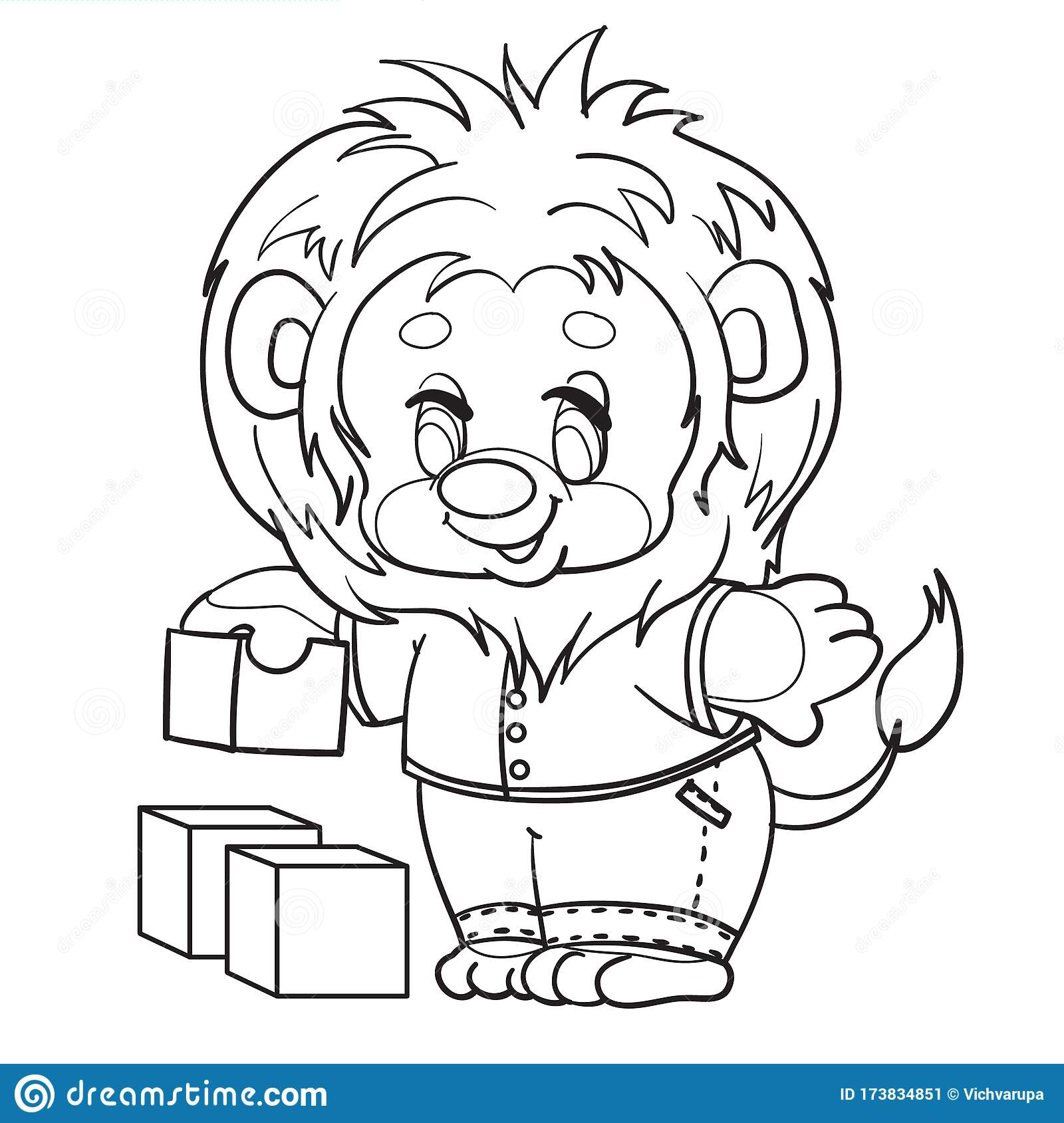 Little Lion Cub Dressed In Clothes Plays With Cubes Outline Drawing Isolated Object On A White Background Stock Vector Illustration Of Lion Brave 173834851 Support us by sharing the content, upvoting wallpapers on the page or sending your own background pictures. dreamstime com