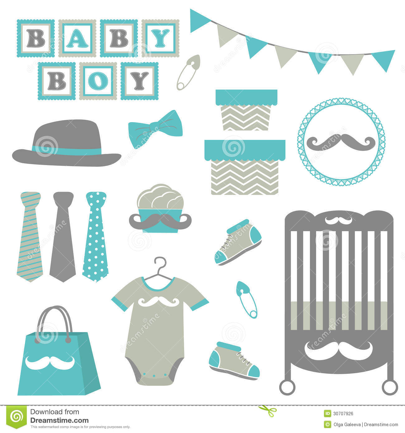 Little Man Baby Shower Royalty Free Stock Image Image