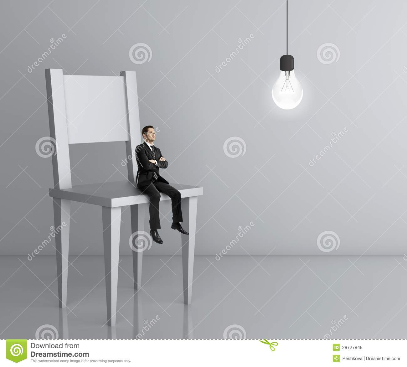 Beautiful Royalty Free Stock Photo. Download Man Sitting A Big Chair ...