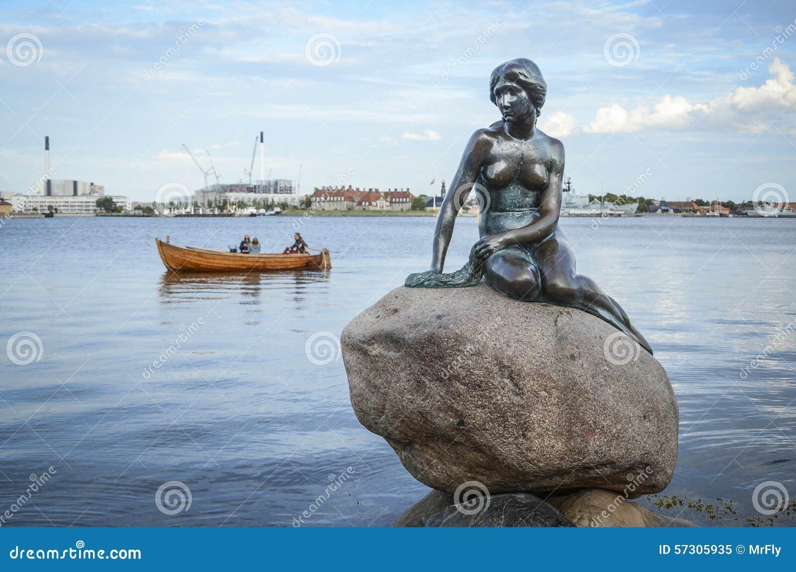 little mermaid in copenhagen editorial image image 57305935