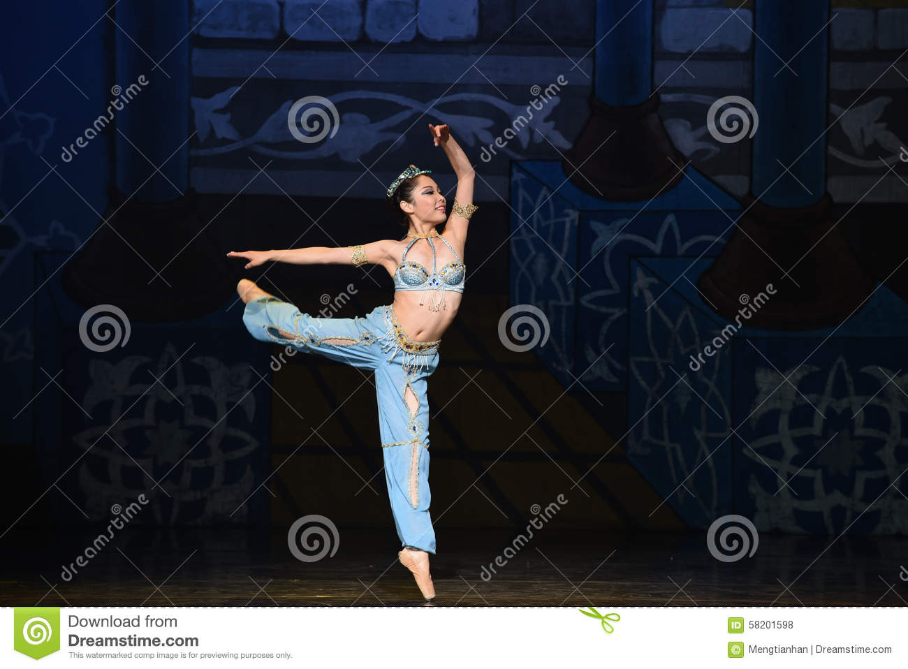 "The little mermaid leaping out of the sea- ballet ""One Thousand and One Nights"""