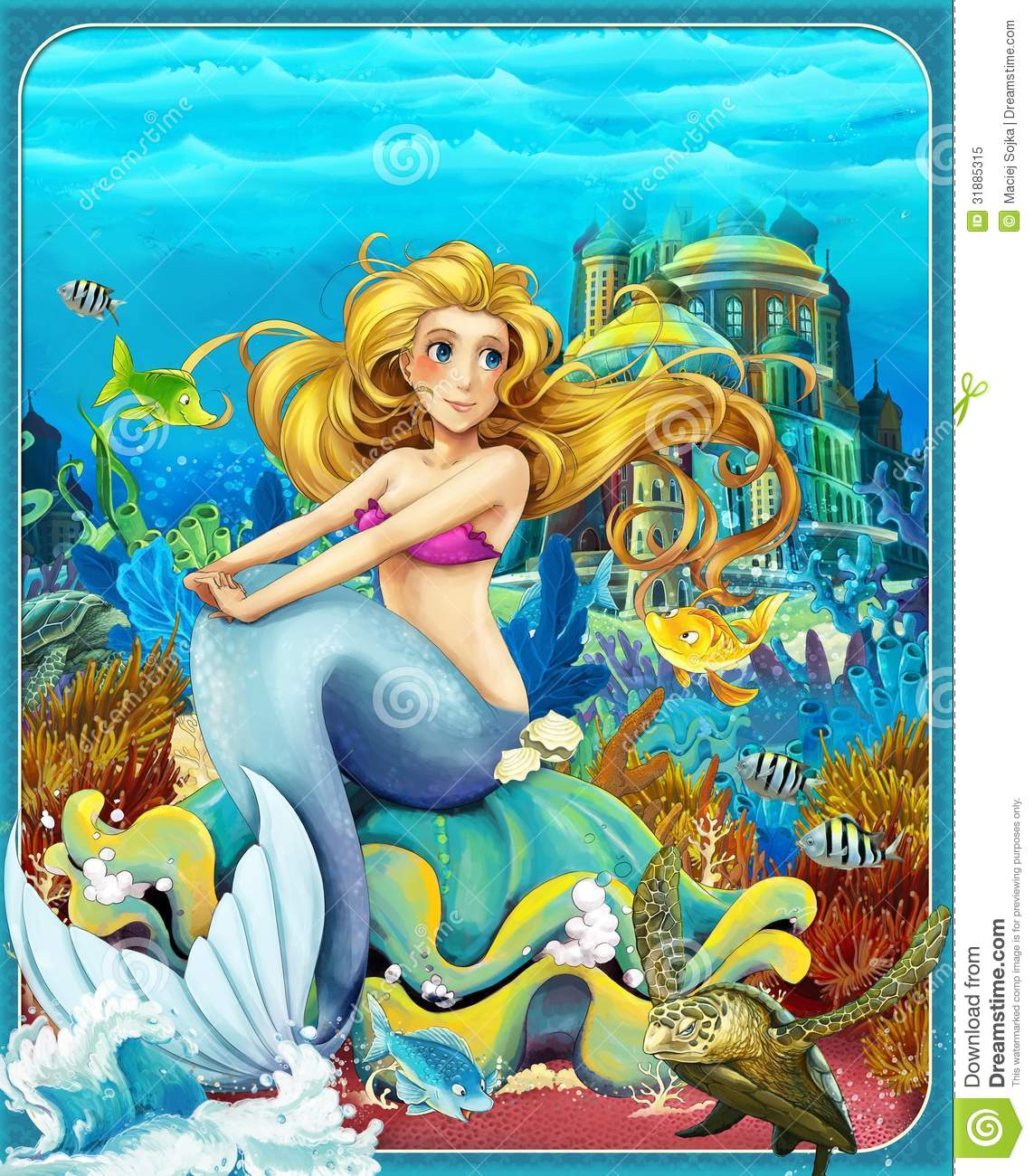 the little mermaid the princesses castles knights