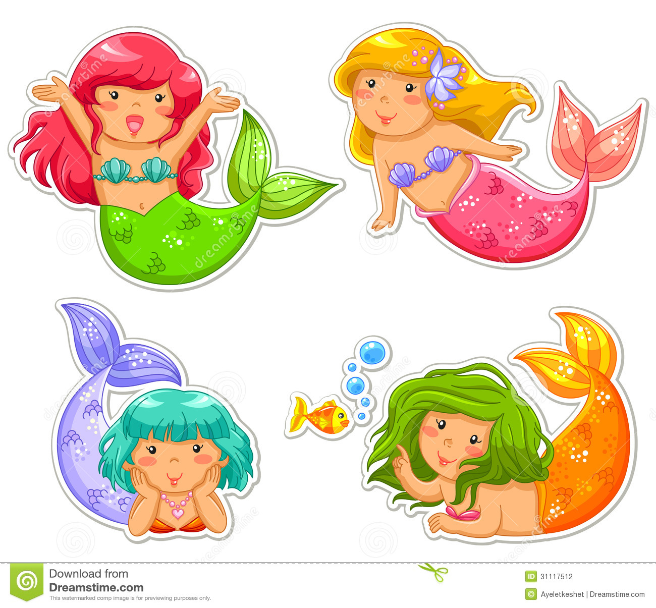 Little Mermaids Stock Photography - Image: 31117512