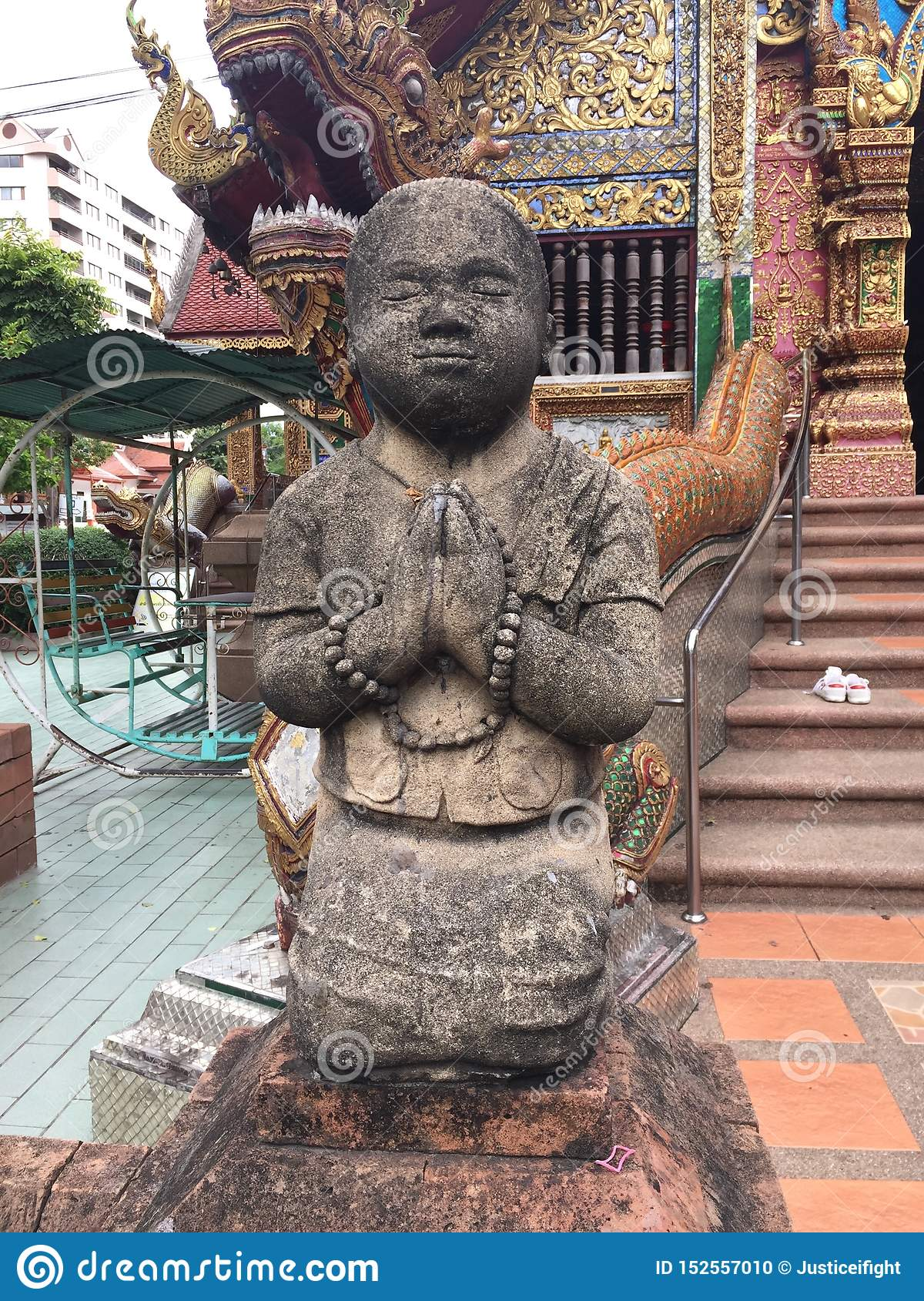 Little Monk Sculpture in Chiangmai Temple
