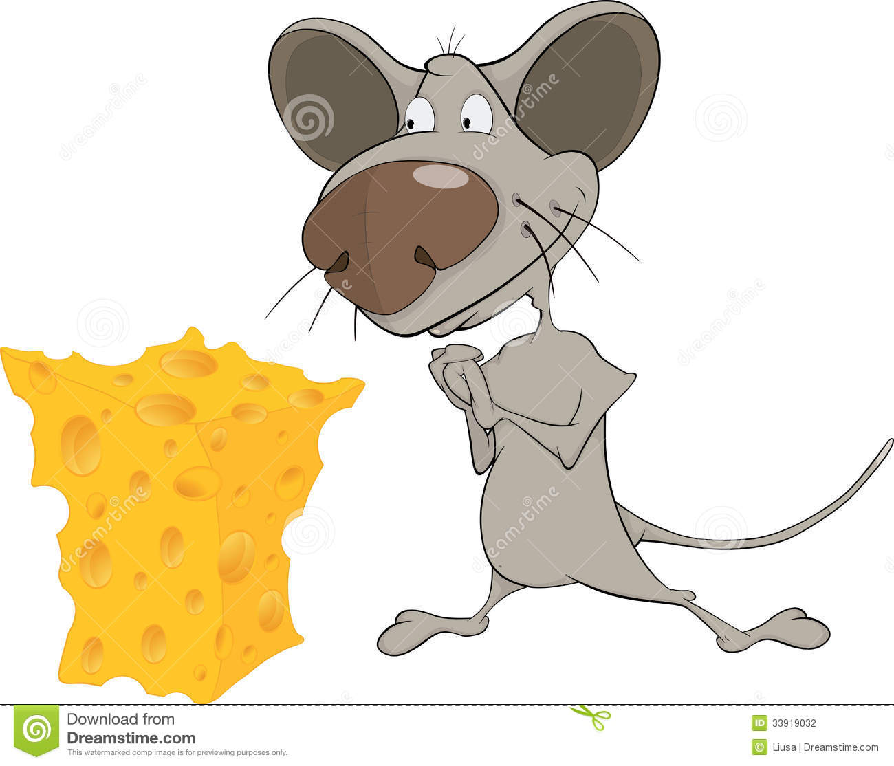 clipart mouse eating cheese - photo #46