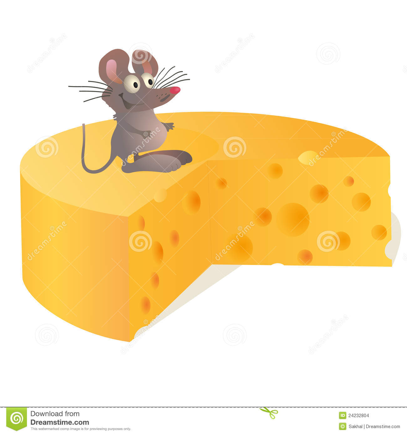 little mouse near big cheese stock images image 24232804