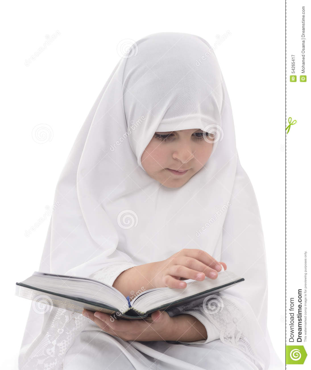 Little Muslim Girl Reading Quran Stock Image - Image of ... Children Reading Quran Beautifully