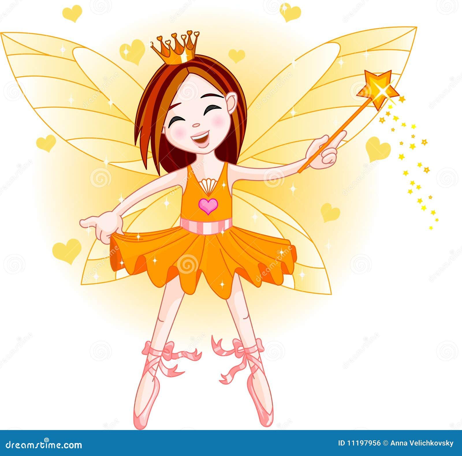 Little orange fairy stock illustration. Illustration of ...