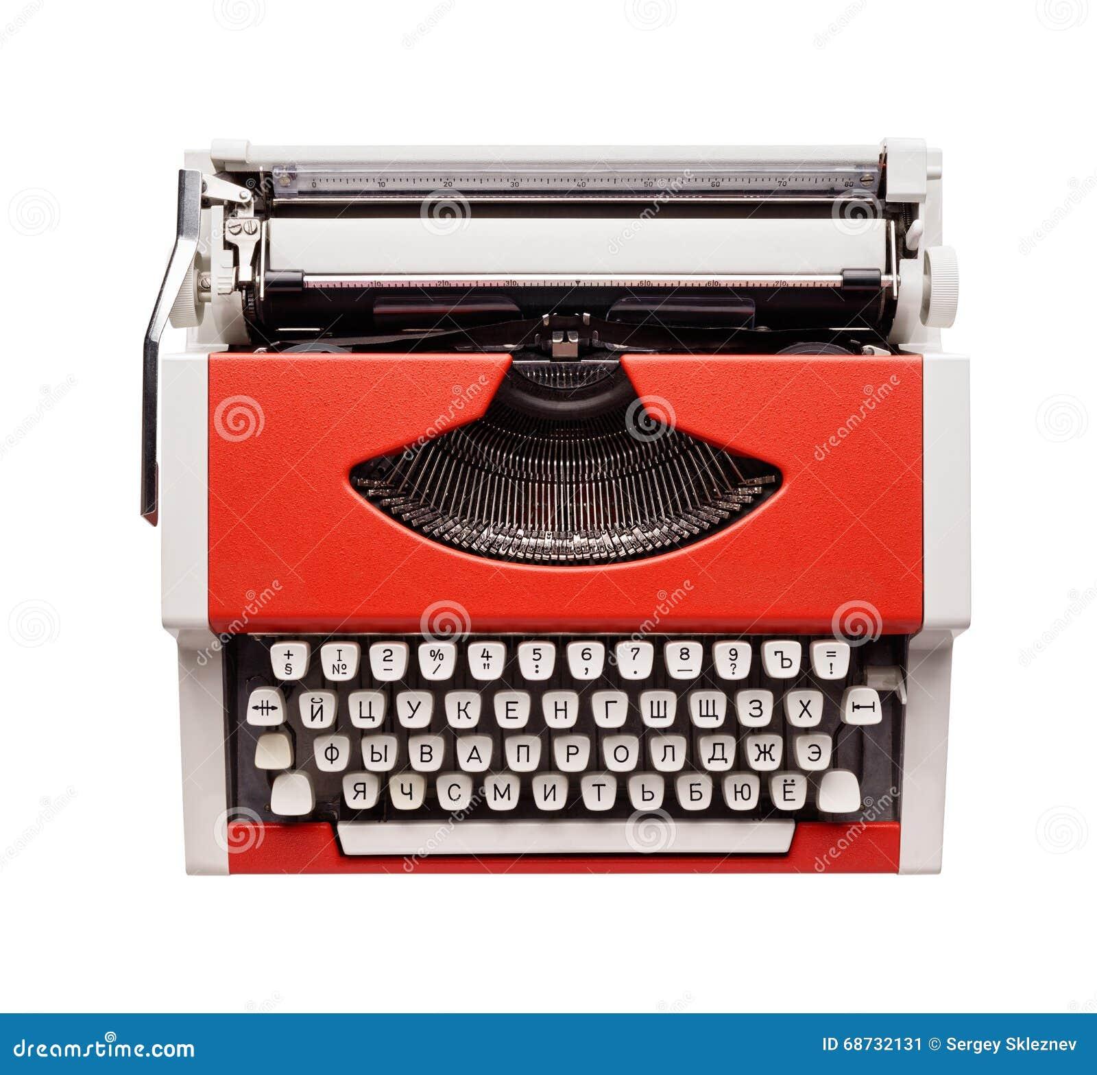 Little orange typewriter