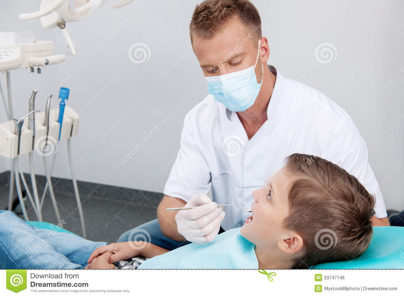 Little Patient At Dentist Office  Stock Photo - Image of