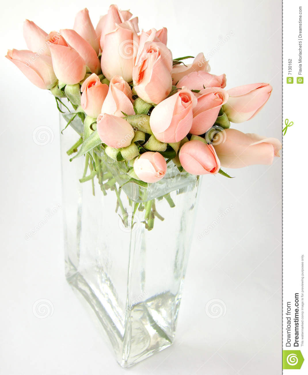 Little Pink Roses Bouquet On Vase Stock Photo - Image of closeup ...