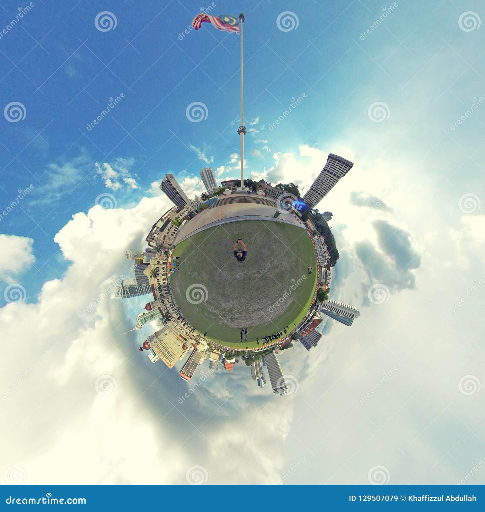 Little planet, Dataran Merdeka, Kuala Lumpur.