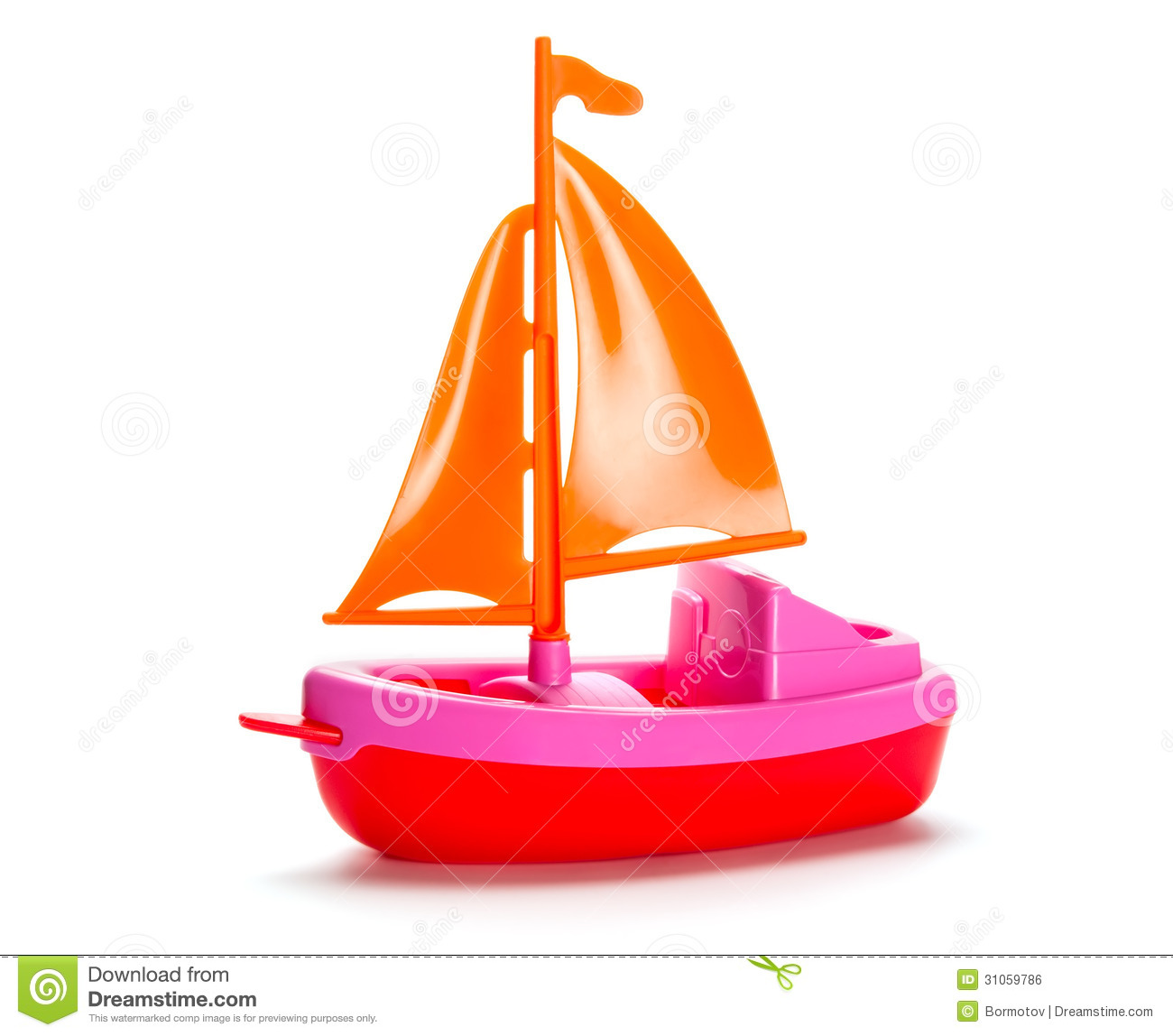 Little Plastic Toy Ship Royalty Free Stock Image - Image: 31059786