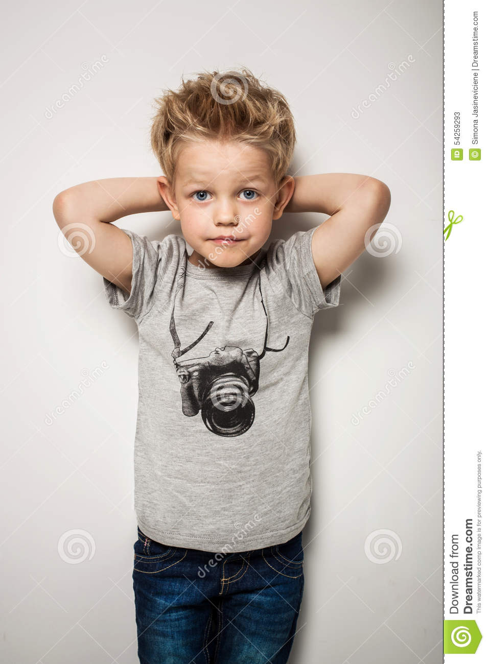 little pretty boy posing at studio as a fashion model stock image image of emotion haircut. Black Bedroom Furniture Sets. Home Design Ideas