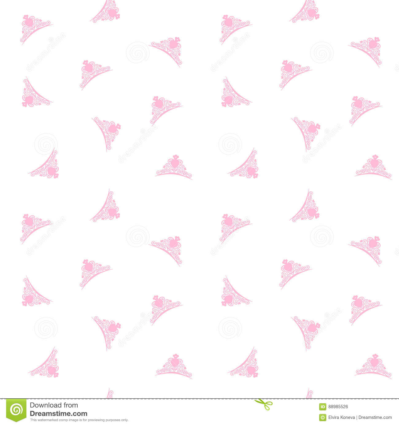 little princess background with princess pink crowns