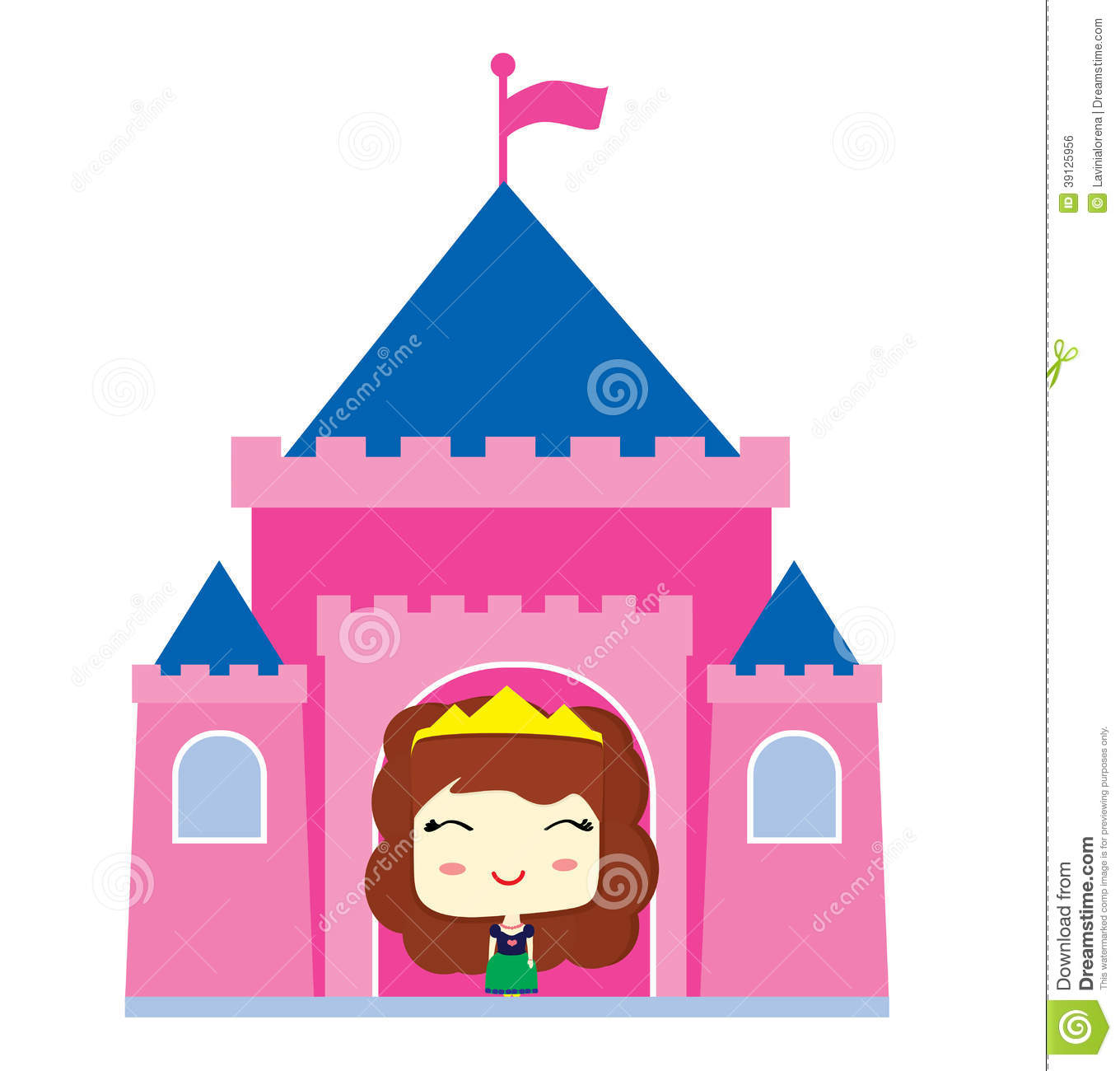 Little princess in the castle stock illustration image for Little princess castle