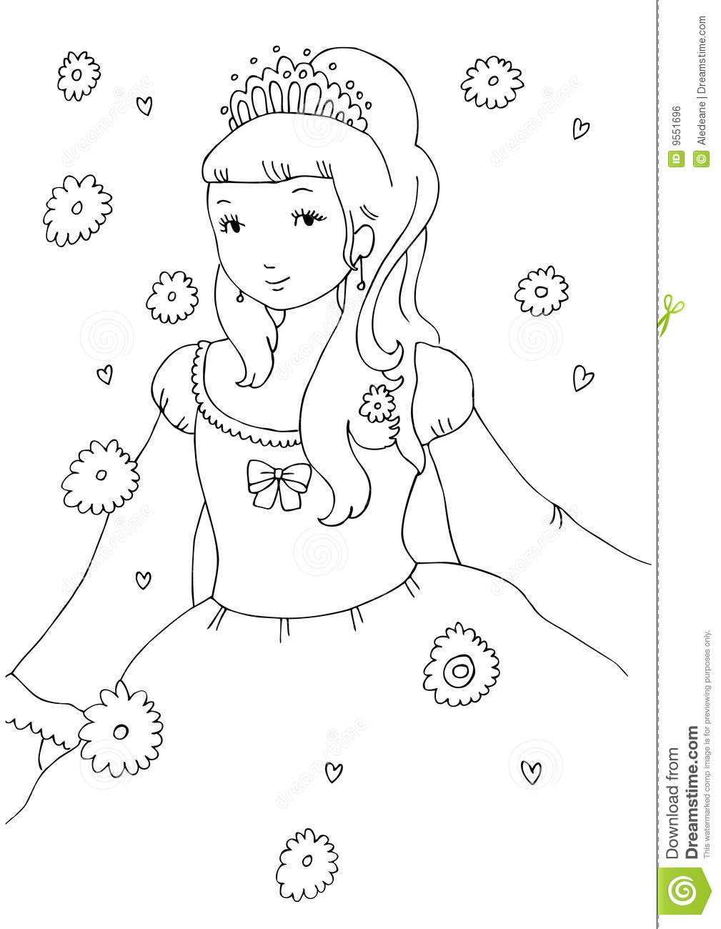 Little princess coloring pages - Little Princess Coloring Page