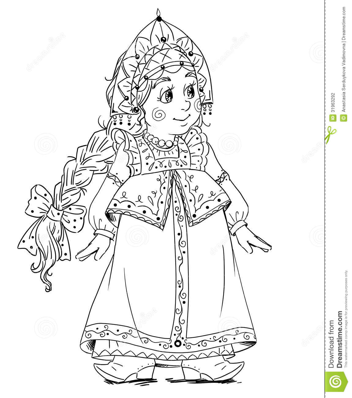 little princess coloring stock photography image 31963292