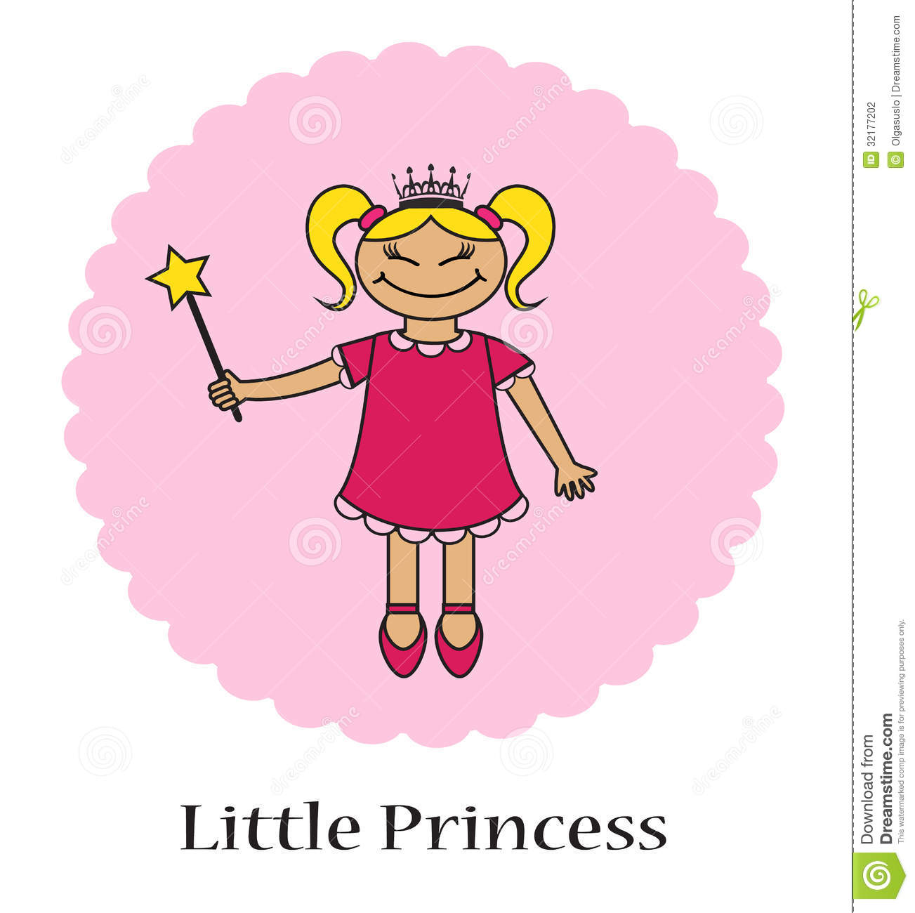 Https Www Dreamstime Com Stock Photography Little Princess Kartoon Magic Wand Pink Background Image32177202