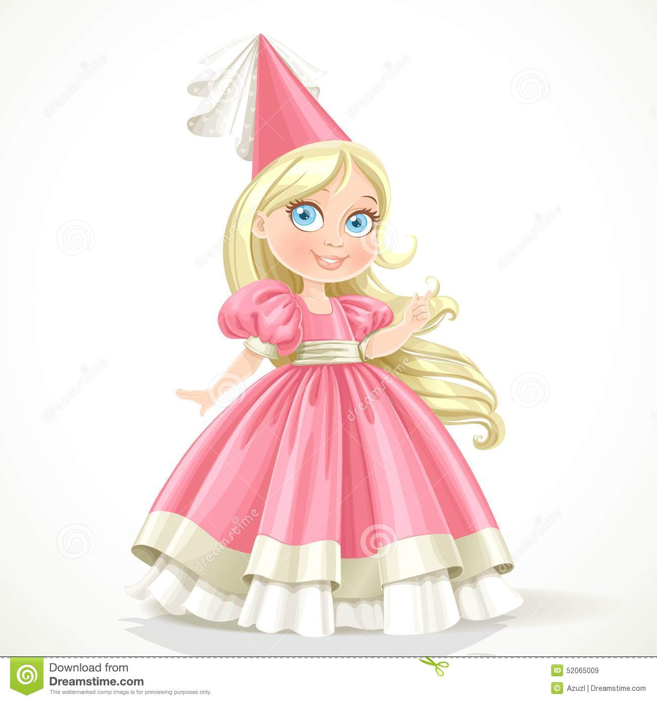 Little princess in a pink dress with long blond hair stock for Small princess