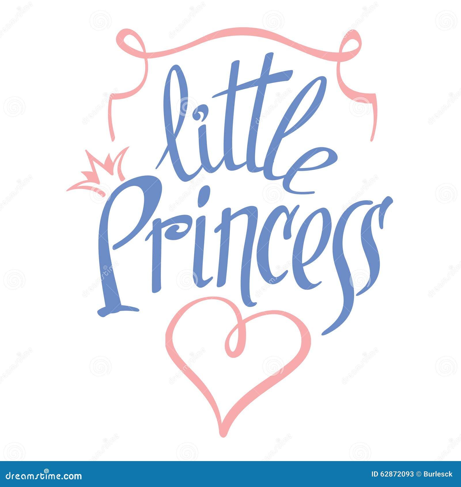 little princess vector lettering for girl t shirt stock vector image 62872093