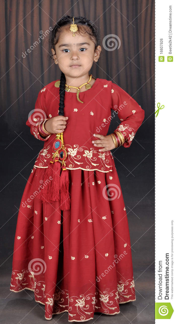 Little Punjabi Girl Stock Photo Image Of Little Kids