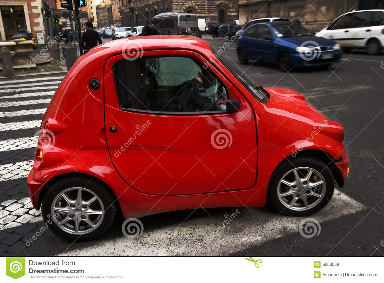 Street Dreams Auto >> Little red car stock photo. Image of automobile, friendly - 6068588