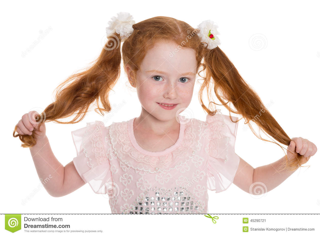 Little Red Haired Girl Stock Photo Image 45290721