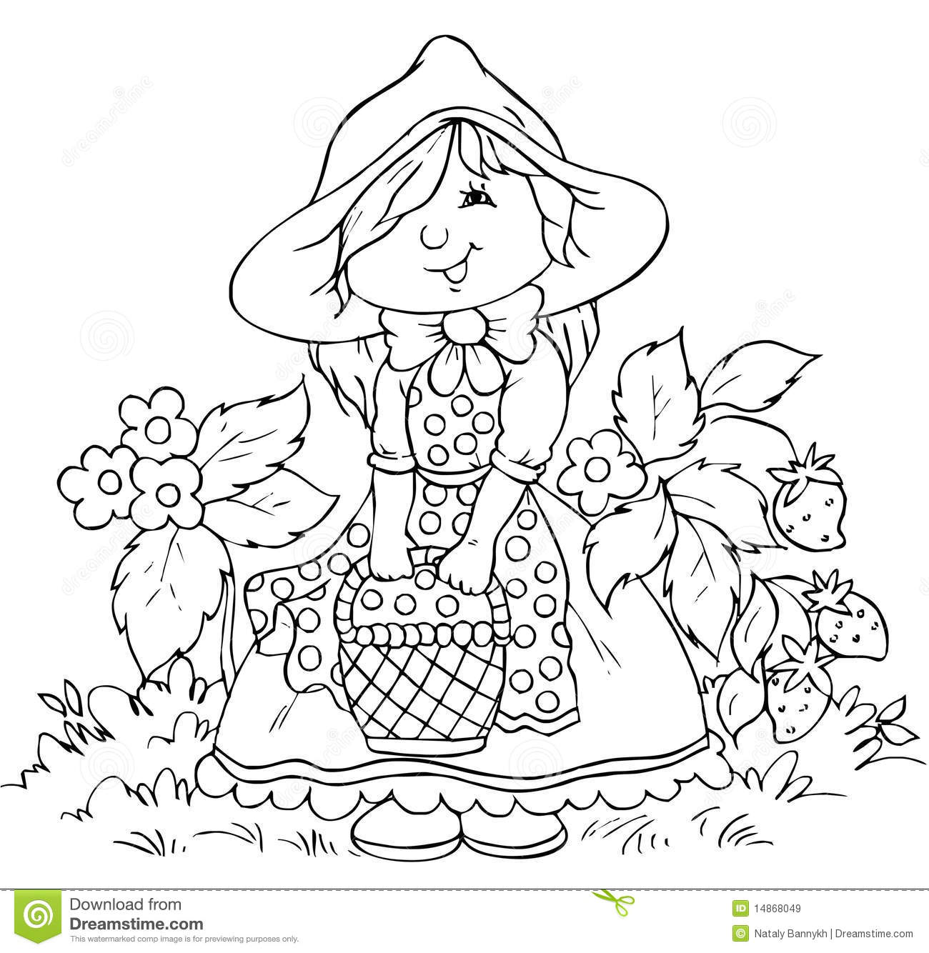 Little red riding hood royalty free stock images image for Red riding hood coloring pages