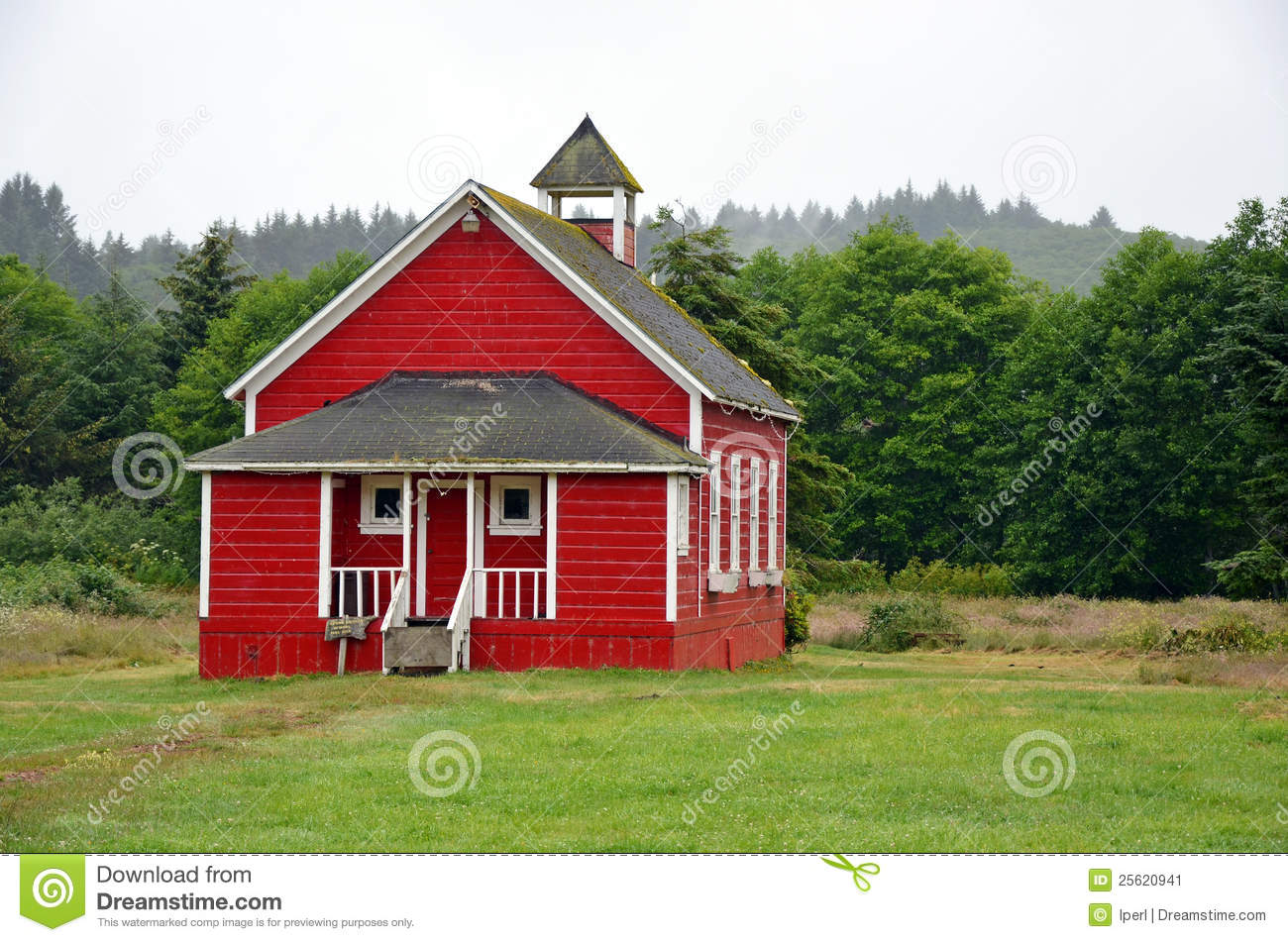 Little Red Schoolhouse Stock Image Image