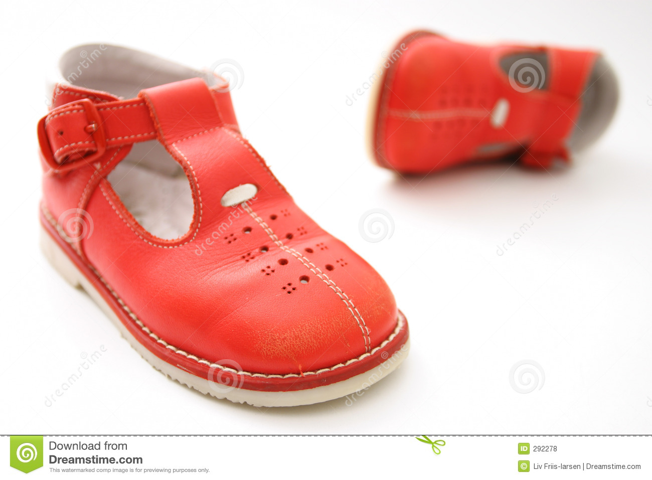 Little Red Shoes Royalty Free Stock Photos - Image: 292278