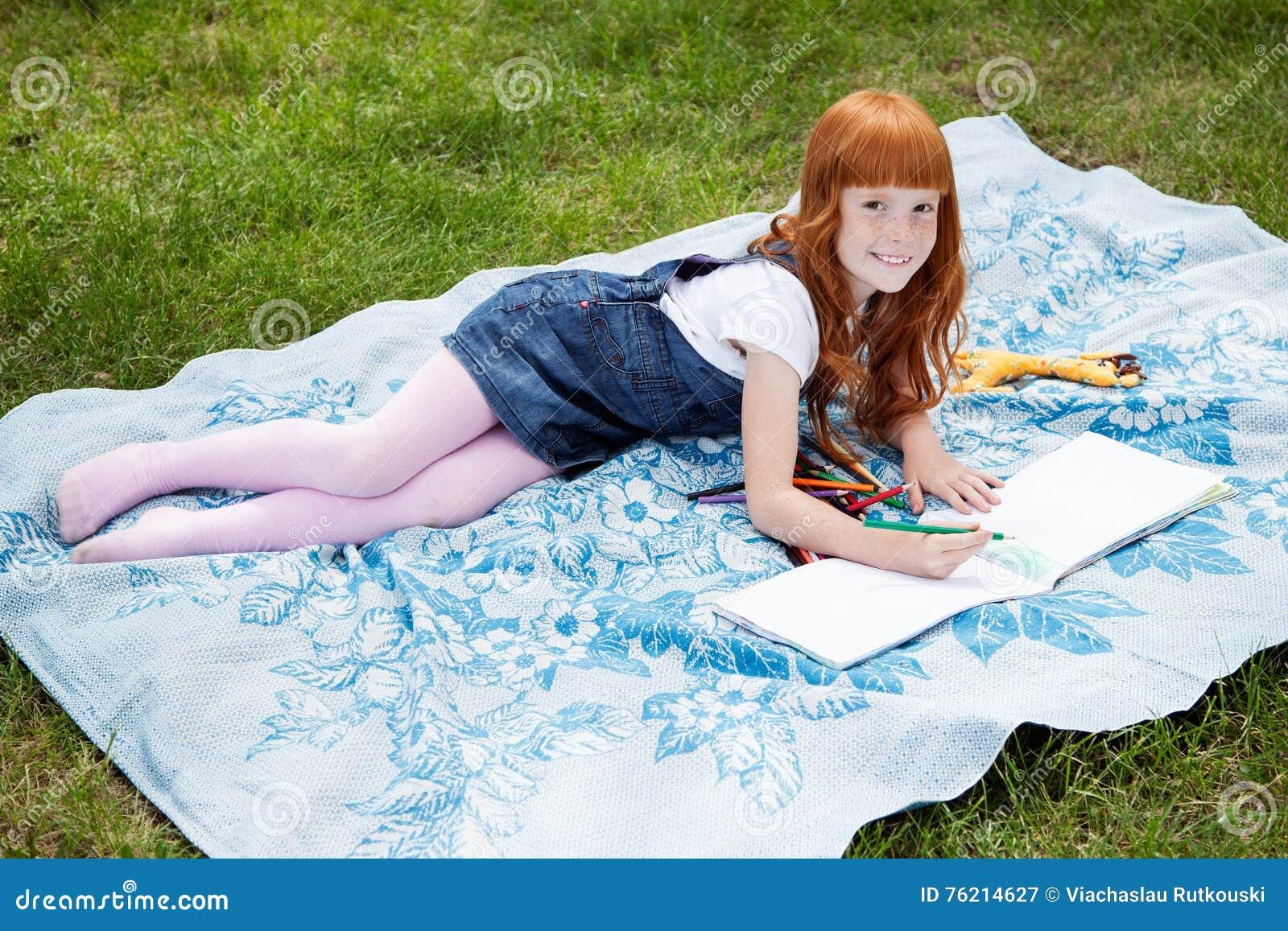 Little Redhead Outdoors Stock Image Cartoondealer Com