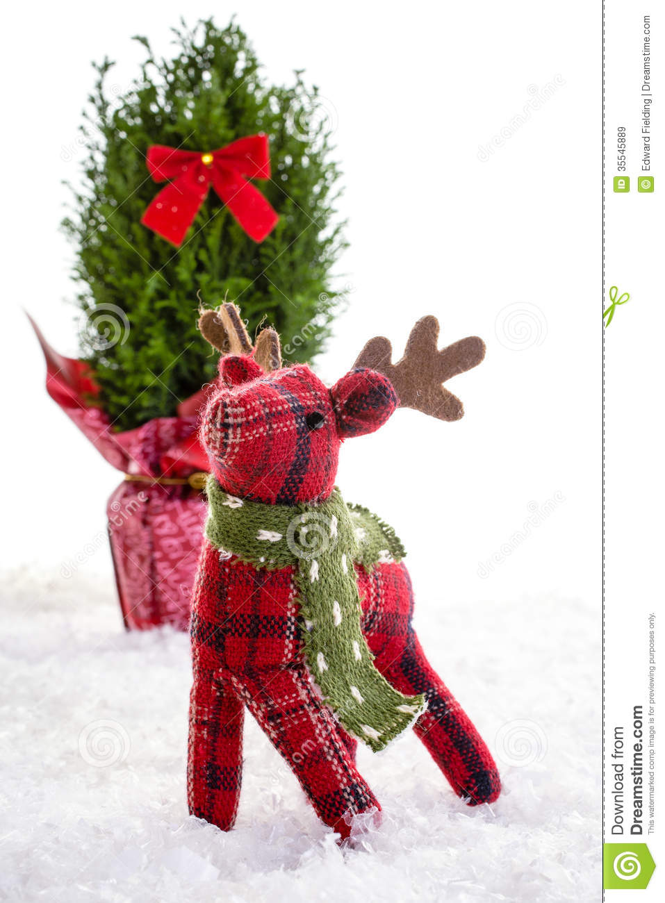 Little reindeer stuffed animal christmas decoration stock for Christmas decoration stuff