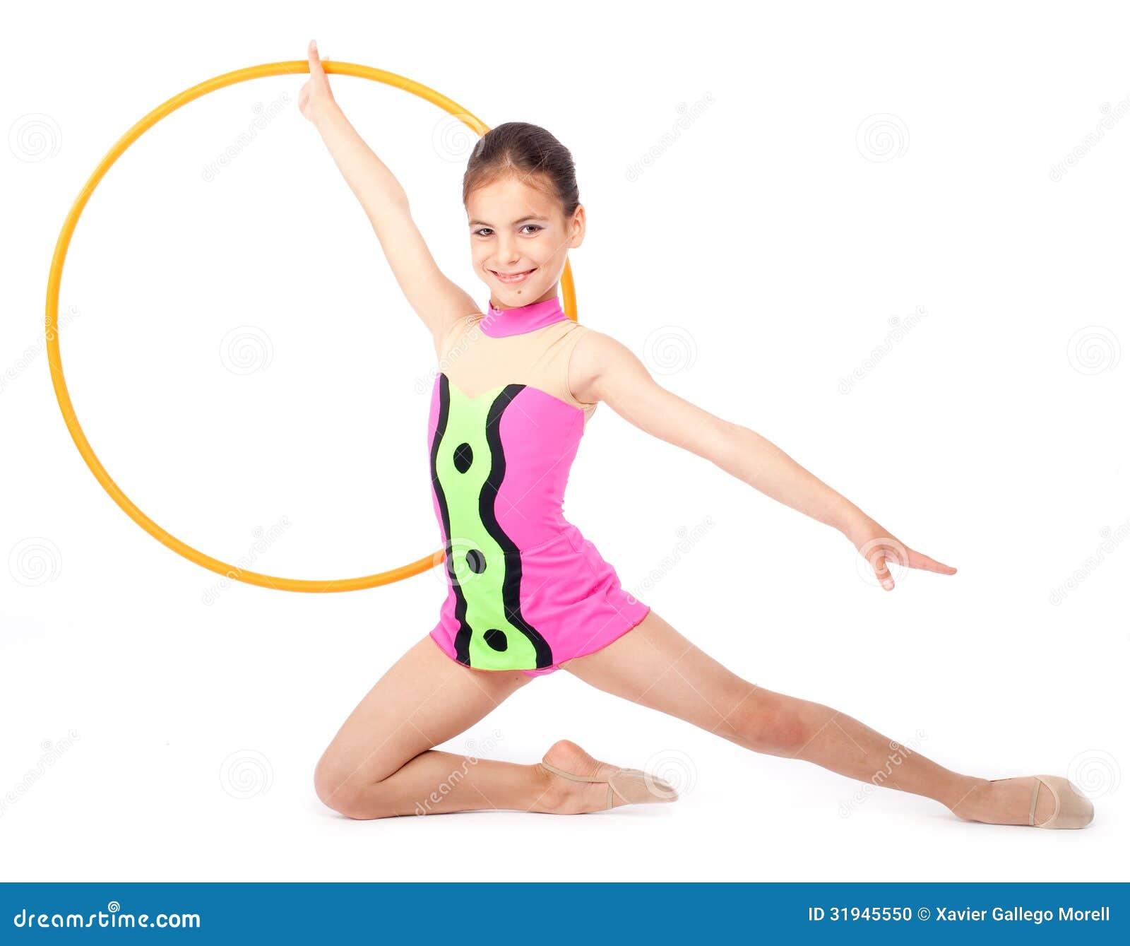 Little Rhythmic Gymnast Stock Photo - Image: 31945550