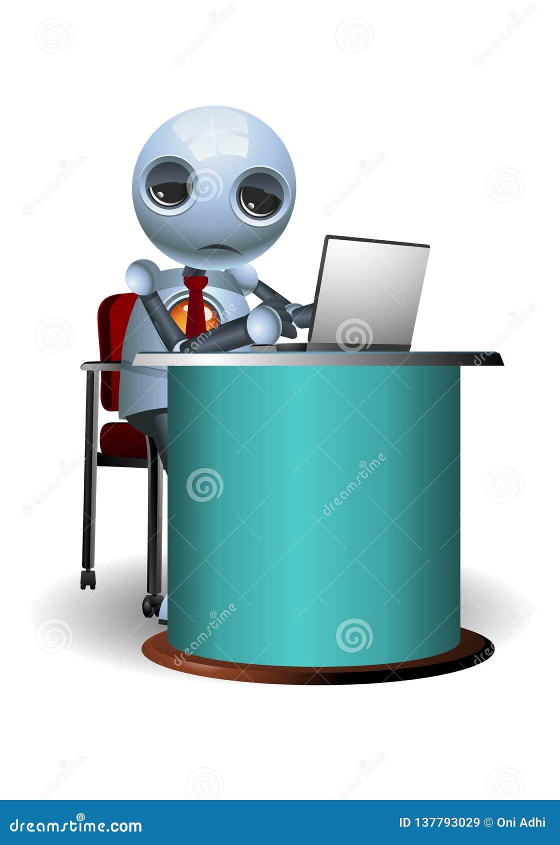 Little robot tired of work