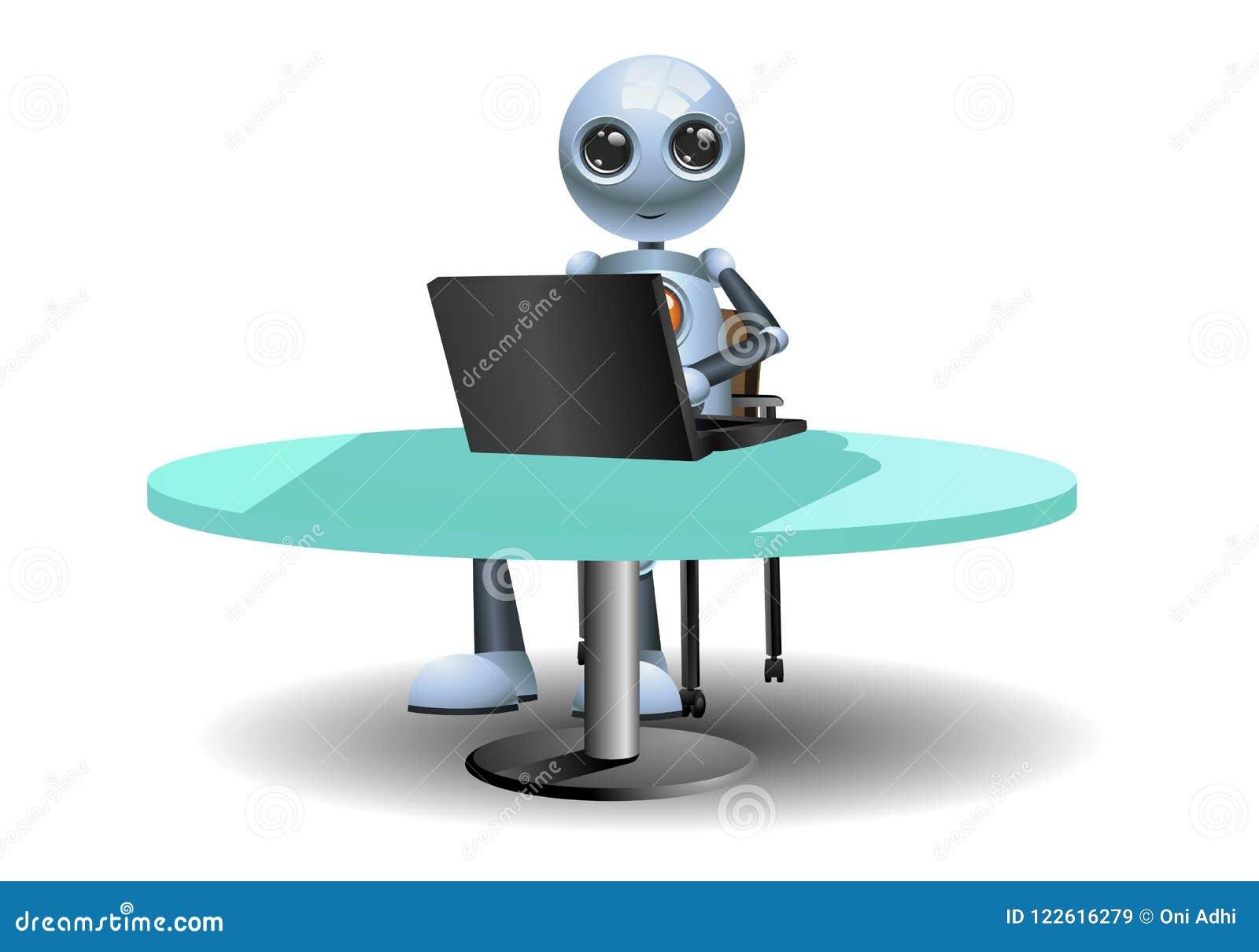 Little robots work using computer