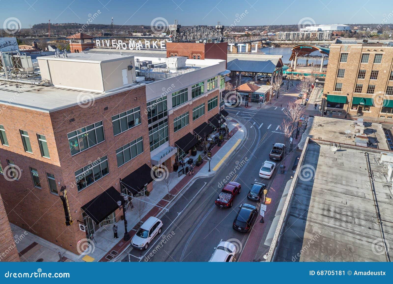 Little Rock, AR/USA - circa im Februar 2016: Stadtzentrum von Little Rock, Arkansas