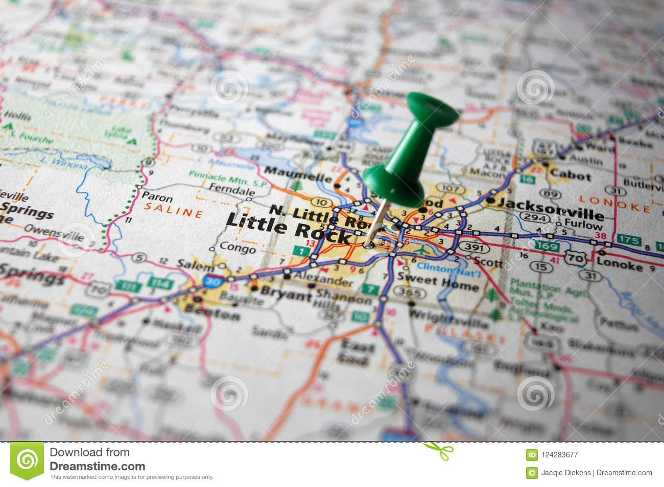Little Rock, Arkansas stock image. Image of geography ...