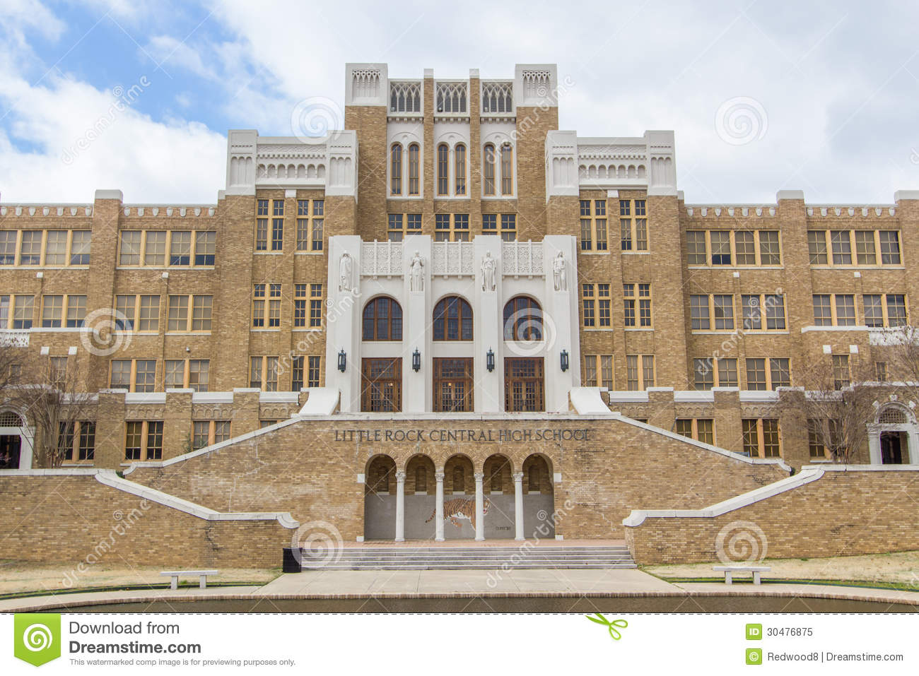 Little rock central high school editorial image image for Historical sites in the usa