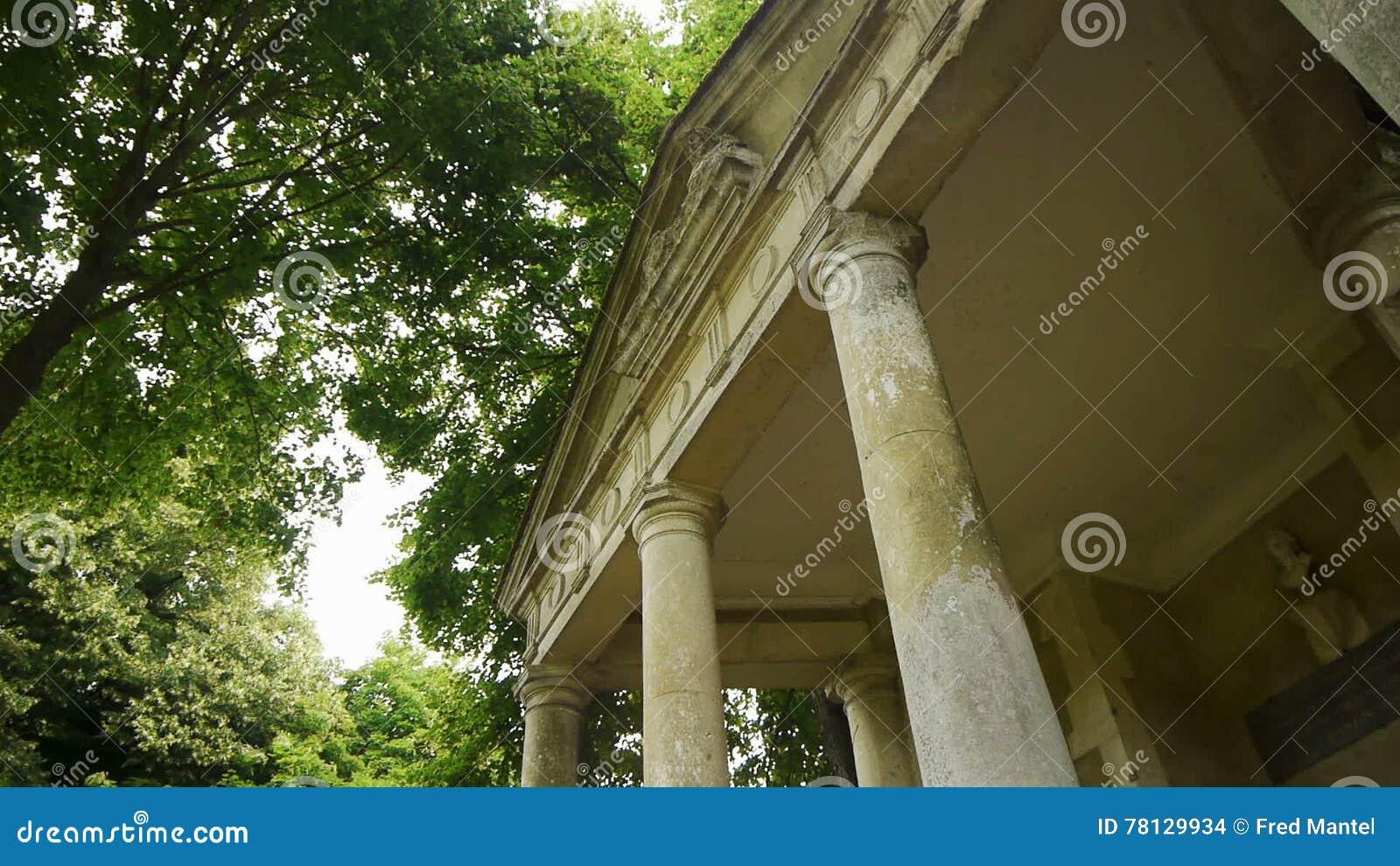 Little Romantic Greek Temple At A Castle Garden, France Stock ...