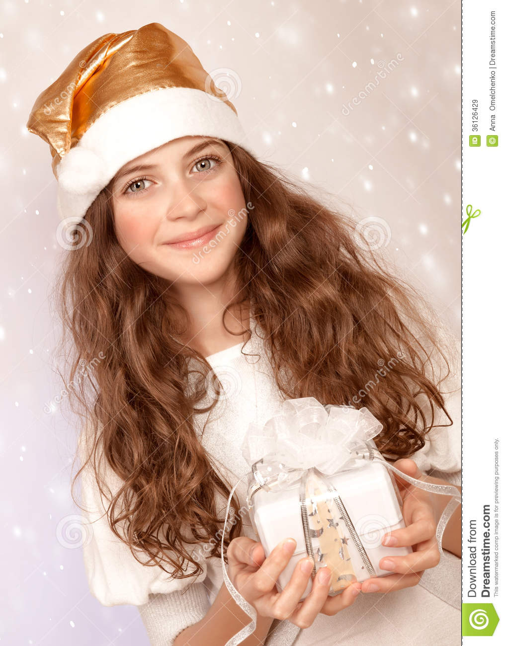 Little santa helper royalty free stock images image for Cute teenager girls