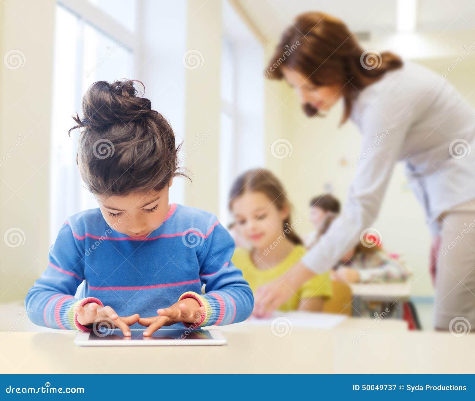 Little School Girl At School Classroom Royalty-Free Stock ...