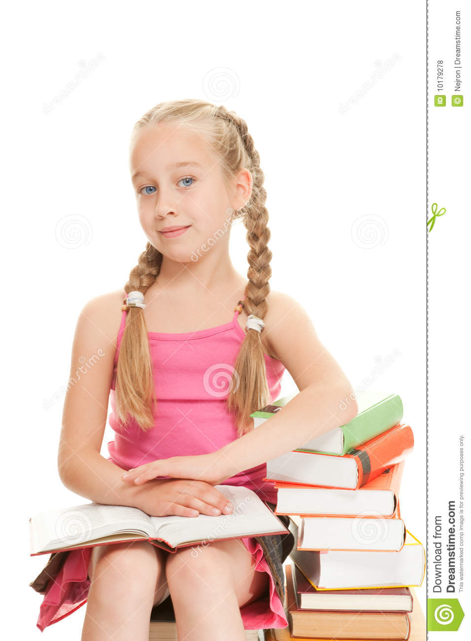 Little Schoolgirl Stock Photo. Image Of Girl, Intellect