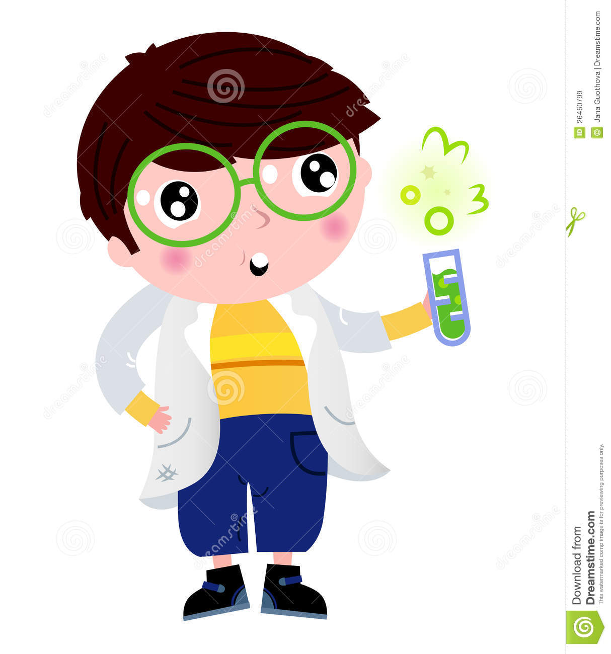 Little Scientist Holding Laboratory Flask Royalty Free ...